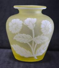 Antique Thomas Webb Cameo Glass Vase c.1885 England Art Glass Signed