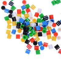 100pcs/lot Colors Plastic Cap Hat 6*6mm A56 Tactile Push Button Switch Lid F27