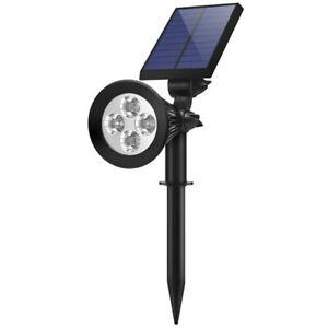 2-in-1 Outdoor Solar Spotlights Powered Adjustable Wall Light Landscape Lighting