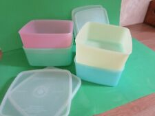 More details for 4 vintage tupperware storage boxes with lids height 2.5