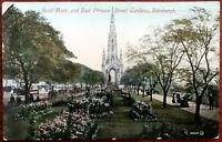 Scott Mont. And East Princes Street Gardens, Edinburgh Postcard