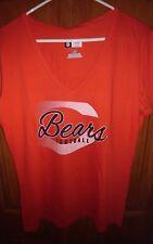 Chicago Bears Women's V-Neck Orange Short Sleeve T-Shirt New w/ tags Size Large