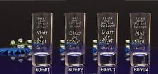 200 Personalised etched 6cl Shot Glasses for Special Day Stag Hen Night Party