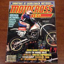AUGUST 1982  MOTOCROSS ACTION 125/250 SADDELBACK WORKS HUSQVARNA CR390 VINTAGE