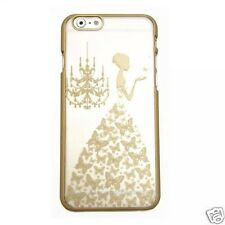 Luxury Case For Apple iPhone  6 4.7 PC Back Cover Dress Girl Gold