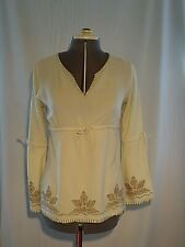 River Island Embroidered Tunic Top Boho Festival Size 10 Vintage late 1990s