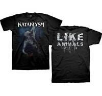 KATAKLYSM - Like Animals - T SHIRT S-M-L-XL-2XL Brand New - Official T Shirt
