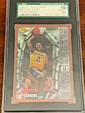 Derek Fisher ROOKIE 1996-1997 Topps Finest Refractor SGC 92 8.5 Lakers RARE