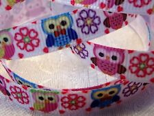 "Grosgrain Ribbon *Little Owl Print* - 3/8""W - 5 Yds - Hair Bows& Crafts!"