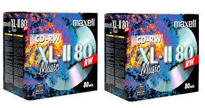 20 x Maxell Audio Music Rewritable CD-RW XLII 700MB 52x 80Min In Jewel Case