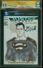JUSTICE LEAGUE #16 CGC SS 9.8 SUPERMAN sketch By PHIL NOTO signed BRANDON ROUTH