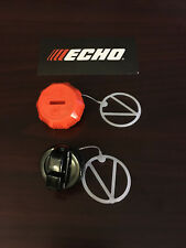 ECHO CS-370, CS-400 GAS AND OIL CAP SET NEW OEM  P021036960, P021007630