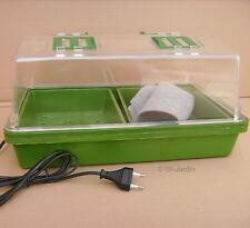 Mini serre Chauffante 12 watts 38,5 x 24,5cm, hauteur 19,5cm, 4 aérateurs