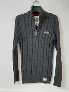 Superdry Dark Grey Pullover Size Medium Boys Long Sleeve (L302)