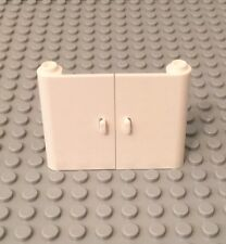 Lego New White 1x3x4 Left And Right Doors Open Stud Between Top And Bottom Hinge