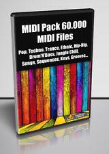 60.000 MIDI FILES, Pop, Techno, Trance, Ethnic, Hip-Hop... -  Download