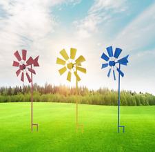 new Outdoor Metal Windmill Yard Garden Decoration Wind Mill Rotating windmill