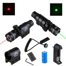 Red Green Dot Laser Sight Rail Barrel Mount Remote Switch for Tactical Rifle Gun