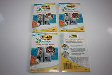 NEW 3M Post-it Digital Inkjet Picture Paper 4x6 25 Pgs Matte Lot 3 75 Sheets