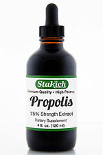 4 oz Propolis Extract 75% Tincture Pure 100% Natural Gluten Free Bee Best Liquid