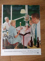 1954 Beer Belongs Ad #98 An Evening of Cards