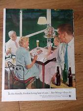 1954 Beer Belongs Ad #98 An Evening of Cards
