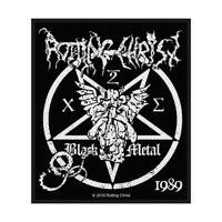 OFFICIAL LICENSED - ROTTING CHRIST - BLACK METAL SEW ON PATCH BLACK METAL