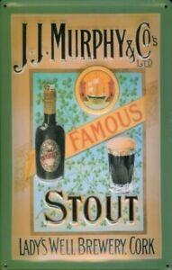 J.j. Murphy $ Co, Famous Stout embossed steel sign 300mm x 200mm (hi)