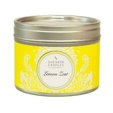 Shearer Candles Home, Lemon Zest, Small Scented Tin Candle - 20 Hour Burn - 47mm