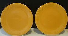"(2) Vintage Homer Laughlin Fiesta Original Yellow Plates 9 1/2"""