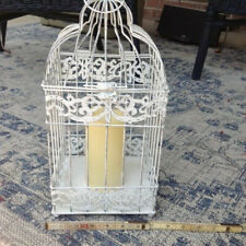 """BIRD CAGE BATTERY OPERATED CANDLE 14"""" tall Wedding,Garden, Decorate"""