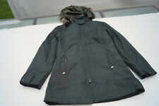 DKNY Damen Winter Jacke Mantel Steppjacke Parka Fell Kapuze Gr.M dunkelgrün TOP
