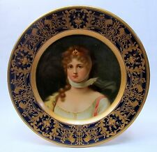"1905 QUEEN LOUISE PRUSSIA Vienna Art Plates 10"" tray CONSOLIDATED ICE Pittsburgh"