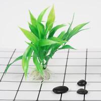 Water Grass Green Plant Ornament 15cm For Aquarium Fish Tank Artificial Supplys