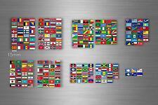 252x adesivi sticker bandiera paese mondo stati scrapbooking collezione r4