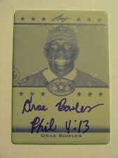 2012 Leaf US Army All Star Drae Bowles Tennessee Volunteers Auto 1/1