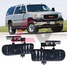 For 1999-2002 GMC Sierra Fog Lights Driving Lamps Replacement SAE DOT Smoke Lens