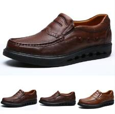 Men's Outdoor Leisure Leather Shoes Slip on Business Pumps Loafers Breathable Sz