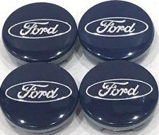 "4Pcs, Wheel Center Hub Cap Ford 54MM / 2.13"" Blue Chrome , # 6M21-1003-AA"