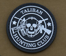 """PVC / Rubber Patch """"Taliban Hunting Club Round"""" with VELCRO® brand hook"""