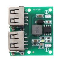 9V 12V 24V 5V 3A Dual USB Cargador DC-DC Fuente de alimentación Módulo reduc*QA