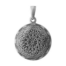 Brand New 925 Solid Sterling Silver Infinite Universe Disc Amulet Pendant