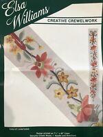 Vintage Elsa Williams ❤️  Floral Flowers Bellpull Crewel Embroidery Kit Unused