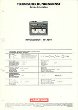 NORDMENDE - 3 x Service Informationen - HiFi Clipper 3120, R. in Bildern - B2332