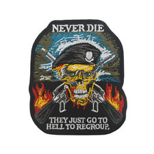 ARMY MORALE  NEVER DIE THEY JUST GO TO HELL TO REGROUP Embroidery HOOK PATCH