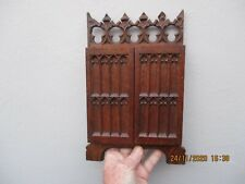 A Fine Victorian Carved Oak Gothic Style Folding Triple Photograph Frame c1880/1