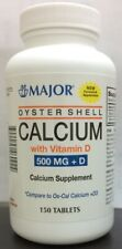 Major Pharma Oyster Shell Calcium, with Vitamin D, 500 mg 150 ct Exp 03/2021