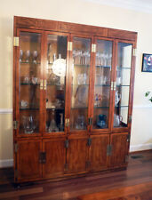 Henredon Scene I Campaign Collection Breakfront China Cabinet