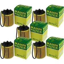 5x MANN-FILTER Filtro de aceite HU 713/1x FILTRO DE ACEITE