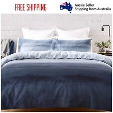 New Queen Bed Reversible Quilt Cover Set Doona Duvet Bedding Bedspread  Blue